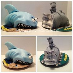 """""""The shark vs. Children's Choice, Love And Co, Train Party, Shark, Party Ideas, Decorations, Cakes, Birthday, Kids"""