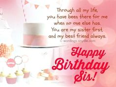 Sis Birthday Quotes Plus About Description For Prepare Awesome Little Sister Facebook