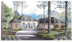 Graceful French Style (HWBDO02731) | French Country House Plan from BuilderHousePlans.com