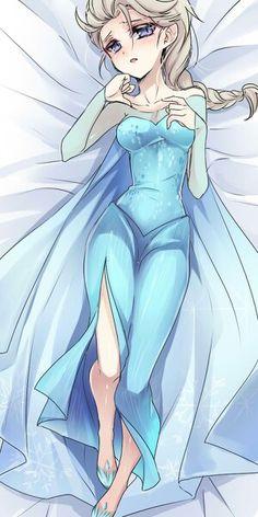 i woke up on my bed. Frozen Love, Frozen Elsa And Anna, Disney Frozen Elsa, Jelsa, Freezing Anime, Sailor Moon Background, Disneyland Princess, Disney Queens, Zootopia Art