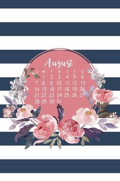 FREE phone wallpaper / background for August. Cute and floral. Jordan Santos Design - Blog