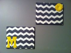 DIY Chevron Canvas Wall Art. Put squares in the other corners with quotes.