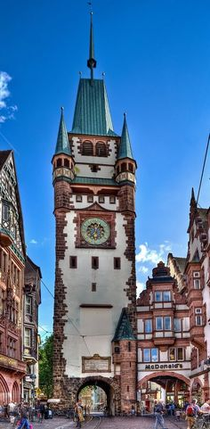 'Martinstor' Freiburg im Breisgau, Germany--I like the McDonald's near it.....