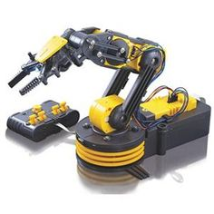 """Robotic Arm Edge (kit of 171) - With Robotic Arm Edge, command the gripper to open and close, wrist motion of 120 degrees, an extensive elbow range of 300 degrees, base rotation of 270 degrees, base motion of 180 degrees, vertical reach of 15"""", horizontal reach of 12.6"""" and lifting capacity of 100g."""