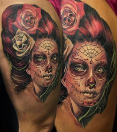 Incredible thigh piece done by Aggie.... #coveruptattoo #dayofthedeadtattoo #sugarskulltattoo #sugarskull #portraittattoo #portraittattoos #portraittattooartist #colortattoo #colourtattoo #colorrealism #colorrealismtattoo #realismtattoo #realistictattoo #tattoo #tattoos #tattoochallenge #realisticink #tattooartist