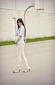 denim and skinny jeans