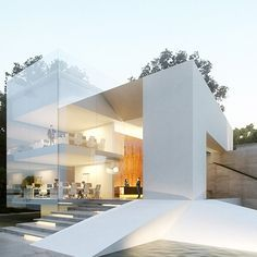 modern home, contemporary architecture, minimal design, Creato Arquitectos. http://bocadolobo.com/blog/