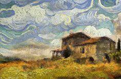 Tribute to Vincent Van Gogh ~ La maison sur la colline ~