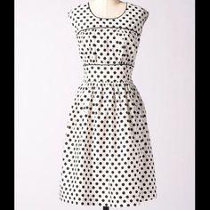 Downeast Modcloth Vintage Polka Dot Dress 6 Small