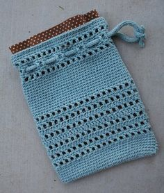 Evening Pouch Drawstring Bag Knitting Pattern - cute wedding favor ...