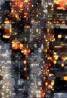 "DAVID HANSEN  City Lights | ""Photographic Impressions,"" as David has coined the finished pieces, are a unique new product of exposing traditional photographic images to the new digital darkroom techniques."" http://fineartamerica.com/featured/city-lights-david-hansen.html"