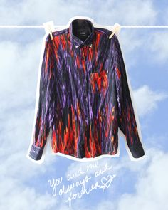 Hot In Flames Shirt Red Shirt, Online Shopping Clothes, Kids Wear, Cool Kids, Purple, Hot, How To Wear, Jackets, Shirts