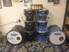 Grover Custom Drums side by side comparison Side By Side Comparison, Percussion, Drums, Music Instruments, Musical Instruments, Drum, Drum Kit