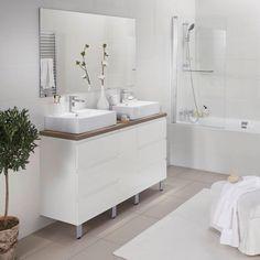 CREAMIX, le meuble qui s'adapte à toutes les salles de bains ! Meuble sous-vasque 150 cm