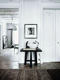 Beautiful Parisian apartment with art.