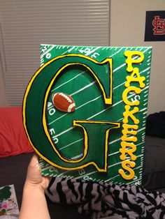 Green Bay Packer Canvas I made for my Dad for Christmas!