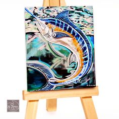 Prefect Fish Print Blue Marlin Art By Louisiana by MCRomagueraArt