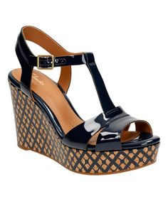 Another great find on #zulily! Navy Amelia Roma Patent Leather Sandal #zulilyfinds