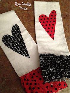 valentine day hand towels