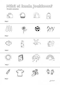 School Fun, Pre School, Finnish Language, Becoming A Teacher, Kids Study, Happy Together, Special Education, Literature, Kindergarten