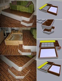Mask the Bed for Small Spaces - DIY