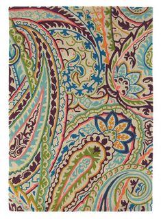 Sanderson Tapis en laine Kashmir achetez à bon prix en ligne Alexandria Sydney, Vibrant Colors, Colours, Abstract Waves, Modern Traditional, Paisley Design, Modern Rugs, Wool Rug, Damask