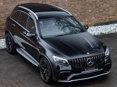 Romans are pleased to offer this Mercedes-Benz Glc-Class Amg Glc 63 S Premium for sale presented in Obsidian Black with Black Nappa Leather. Mercedes 4matic, Mercedes Benz Suv, Mercedez Benz, Luxury Lifestyle Women, Classic Mercedes, Bmw X3, Twin Turbo, Luxury Cars, Dream Cars