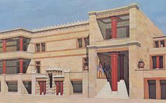 tripartite shrine at Knossos. Santorini, Knossos Palace, Wine Label Design, Bible Pictures, Creta, Minoan, Bronze Age, Ancient Greece, Archaeology