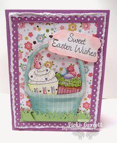 Easter card using IO dies