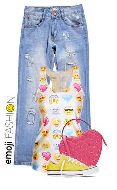 """Emoji Fashion"" by polylana ❤ liked on Polyvore"