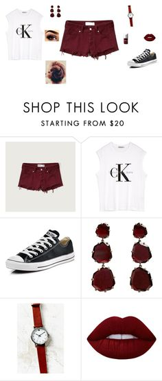 """""""Untitled #42"""" by sara-tadic-1 ❤ liked on Polyvore featuring Abercrombie & Fitch, Calvin Klein, Converse, Annoushka, Urban Outfitters, Lime Crime and Christian Dior"""