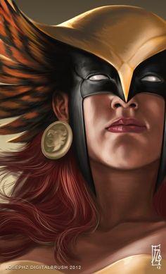 Justice League by Joseph Z - Hawkgirl