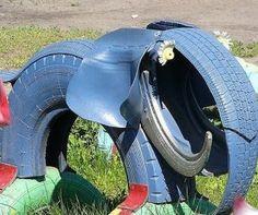 tire elephant