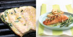 salmon fillets with orange basil butter.