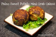 Paleo Sweet Potato Mini Crab Cakes  @GreenOrganicMama.com