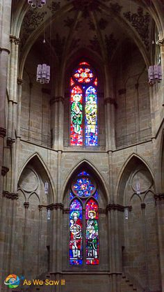 Stained glass windows from cathedral in Trier, Germany - aswesawit.com