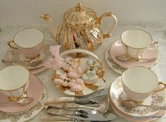 Vintage MisMatched Tea Set for 4 with by AlicesChinaCupboard