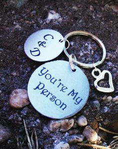 Personalized You're My Person Keychain  You're My by CJTangles, $14.00