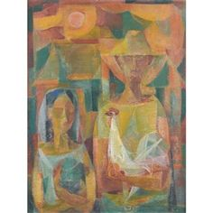 Man, Girl and Cock - Vicente Manansala, 1953 Filipino Art, Philippine Art, Art Database, Cubism, New Artists, Contemporary Art, Pinoy, Paintings, Artworks