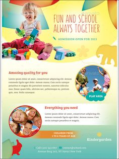 Children Care Flyer Magazine Ad  Magazine Ads Fonts And Ads