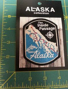 New Alaska Inside Passage  Patch - Unused Embroidered Alaskan patch.  If you click on the View Page button, it will take you to our eBay store page for this patch.  When you click the following link, it will take you to our Way Up In Alaska Patches Page :  http://www.wayupinalaska.com/patches.html