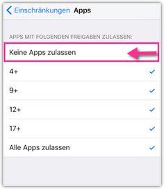 iPhone iPad Einschraenkungen -   Apps ausblenden Ipad, Iphone, Tutorials