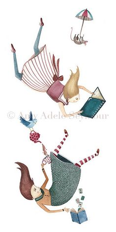 falling into a book by Amy Adele, via Flickr
