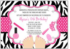 Pamper Party Invitations for beautiful invitation example