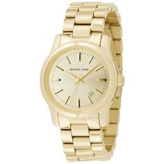 Michael Kors Women's MK5160 3 Hand Runway Watch: Watches: Amazon.com ($154) ❤ liked on Polyvore featuring jewelry, watches, michael kors, michael kors watches and michael kors jewelry