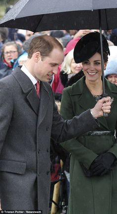 The Duchess of Cambridge smiled at her husband