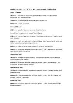 programa-fogueres-de-sant-joan-2013-programa-oficial-de-fiestas by actualizacion de contenidos via Slideshare
