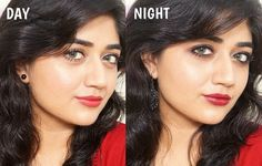 Inspired by the Lakme Absolute Masterclass I attended during Lakme Fashion Week, I created this Day to Night Makeup look incorporating one of the hottest trends this season –… Eid Makeup, Party Makeup, Evening Makeup, Night Makeup, Asian Bridal Makeup, Hair Hacks, Hair Tips, Lakme Fashion Week, Red Lips