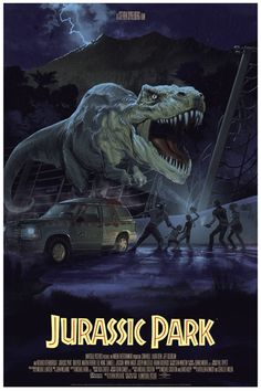 Jurassic Park Posters by Stan & Vince, Dan McCarthy, and Rich Kelly from Mondo  (Onsale Info)