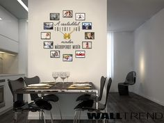 WFO 024 Falióra képekkel faltetoválás +Karlsson falióra - WALLtrend - faltetoválás, falmatrica, faldekoráció Office Desk, Gallery Wall, House Design, Frame, Furniture, Home Decor, Picture Frame, Desk Office, Decoration Home